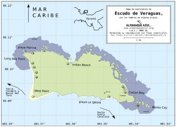 FOR SALE, BEACH PROPERTY IN ISLA ESCUDO DE VERAGUAS, BOCAS DEL TORO, PANAMA, PROPIEDAD PARA LA VENTA
