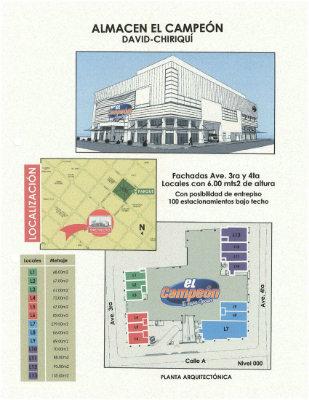 David Locales comerciales para la renta ubicados en el Centro Comercial El Campeon.